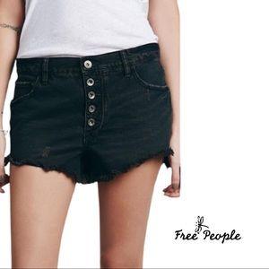 Free People Rustic Wash Raw Hem Distressed shorts